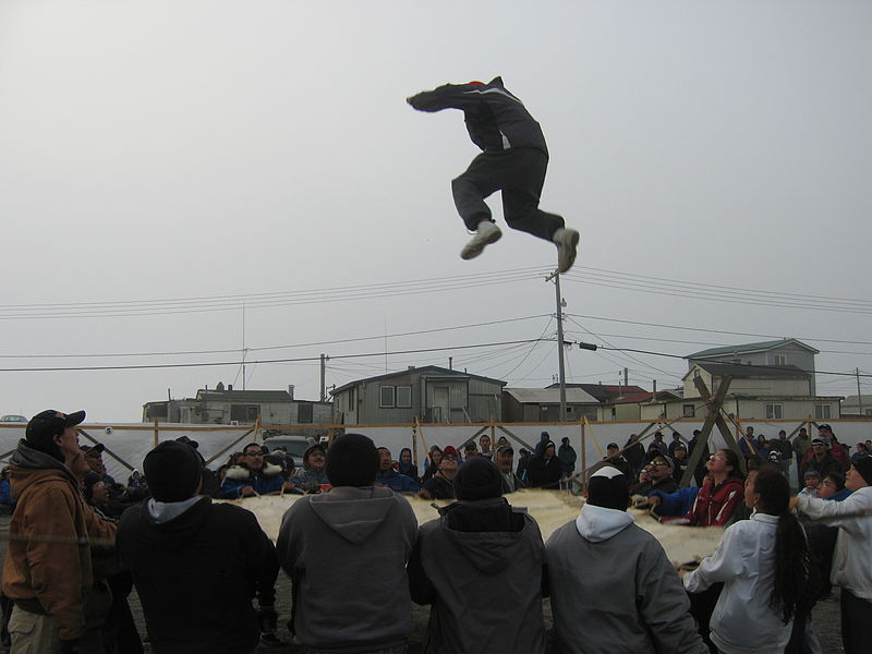 Blanket toss at Nalukataq festival