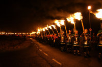 Flming torches at Up Helly Aa
