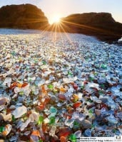 Glass Pebbles line the shore of Glass Beach